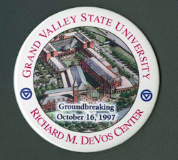 Richard M. DeVos Center groundbreaking memorabilia